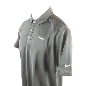 Nike Golf Mens Polo Shirt Large S/S Solid Black
